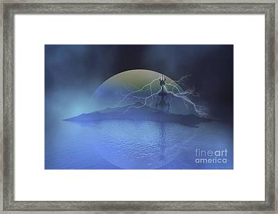 A Military Base On Another Planet Framed Print by Corey Ford