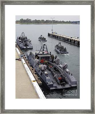 A Mk-v Special Operations Craft Tied Framed Print by Michael Wood