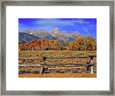 A Moment In Wyoming In Autumn Framed Print by Jeff R Clow