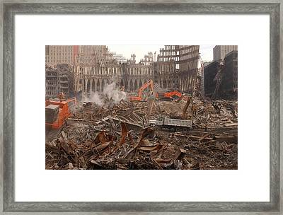 A Month After The Terrorist Attacks Framed Print by Everett
