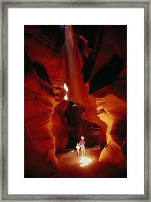A Mother And Child Marvel Framed Print by Paul Damien