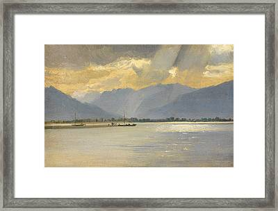 A Mountain Landscape Framed Print by Unknown