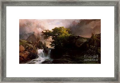 A Mountain Stream Framed Print by Thomas Moran