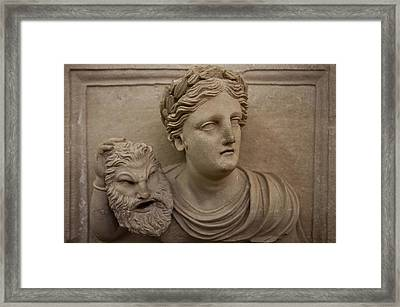 A Nabatean Bust Of A Woman Holdig Framed Print by Taylor S. Kennedy
