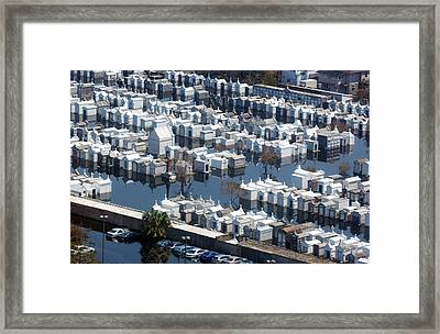 A New Orleans Cemetery Is Swamped Framed Print by Everett
