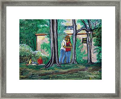 A Nice Day In Dominion Square  Framed Print by Reb Frost