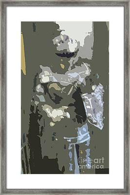 A Nightly Knight Framed Print by Karen Francis