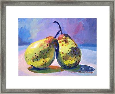 A Pair Of Pears Framed Print by David Lloyd Glover