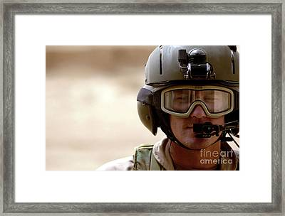A Pararescueman Checks Framed Print by Stocktrek Images