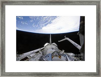 A Partial View Of The Tranquility Node Framed Print by Stocktrek Images