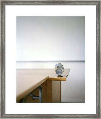A Pencil-sharpener In A Classroom, Sweden Framed Print by Johner Images