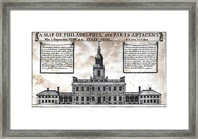 A Perspective View Of The State-house Framed Print by Everett