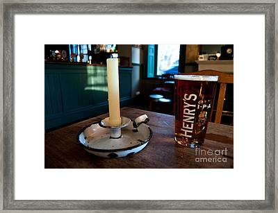 A Pint Of Henry's Framed Print by Rob Hawkins