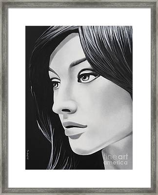 A Portrait In Black And White Framed Print by Dan Lockaby