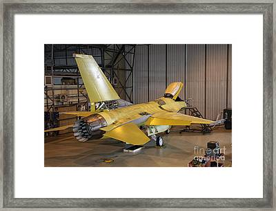 A Portuguese Air Force F-16 Undergoes Framed Print by Giovanni Colla