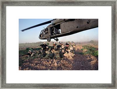 A Quick Response Force Brace Themselves Framed Print by Everett