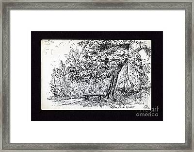 A Quiet Corner 1958 Framed Print by John Chatterley