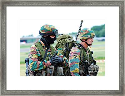 A Radio Operator And Members Framed Print by Luc De Jaeger