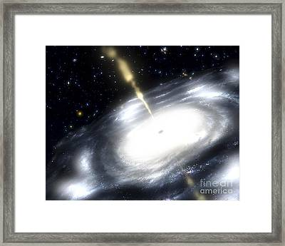 A Rare Galaxy That Is Extremely Dusty Framed Print by Stocktrek Images