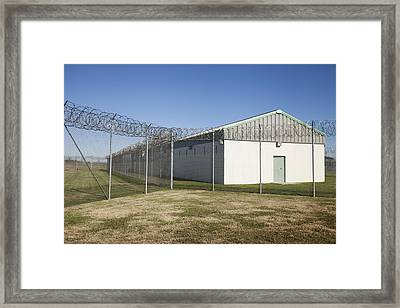 A Residential Unit Wing Or Dormitory Framed Print by Roberto Westbrook