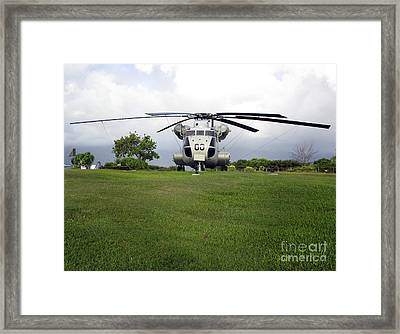 A Rh-53d Sea Stallion Helicopter Framed Print by Michael Wood
