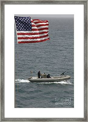A Rigid Hull Inflatable Boat Framed Print by Stocktrek Images