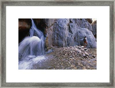 A River Guide Escapes The Heat Next Framed Print by Bill Hatcher