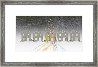 A Row Of Houses Framed Print by Jutta Kuss