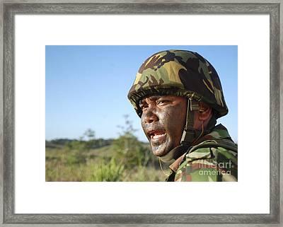 A Royal Brunei Land Force Soldier Framed Print by Stocktrek Images