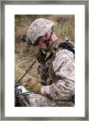 A Satellite Communications Specialist Framed Print by Stocktrek Images