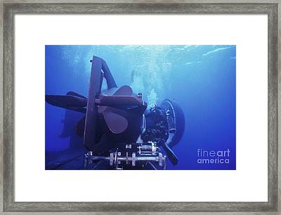 A Seal Delivery Vehicle Is Tied Framed Print by Michael Wood
