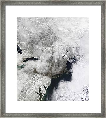 A Severe Winter Storm Framed Print by Stocktrek Images