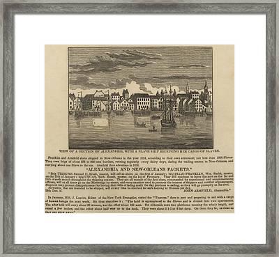 A Ship Of Slaves In 1836 Leaving Framed Print by Everett