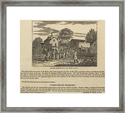 A Slave Coffle Setting Framed Print by Everett