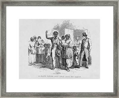 A Slave Father Sold Away Framed Print by Everett