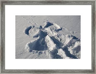 A Snow Angel Is Left From Pay Framed Print by Heather Perry