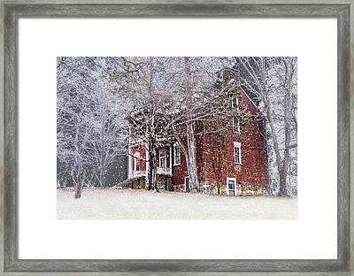 A Snowy Night Framed Print by Kathy Jennings