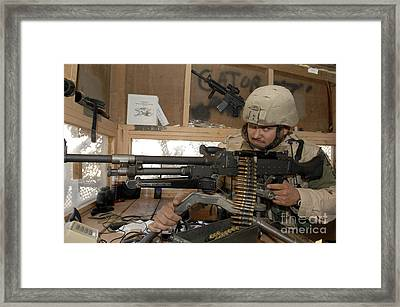 A Soldier Conducts An Observation Framed Print by Stocktrek Images