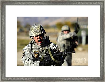 A Soldier Shows His Emotions Framed Print by Stocktrek Images