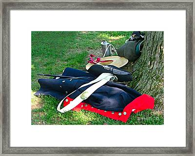 A Soldier's Things Framed Print by Julie Dant