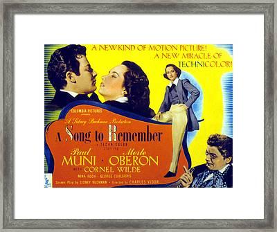 A Song To Remember, Cornel Wilde, Merle Framed Print by Everett