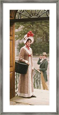 A Source Of Admiration Framed Print by Edmund Blair Leighton
