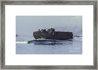 A South Korean Marine Amphibious Framed Print by Michael Wood