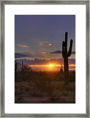 A Spectacular Sunrise  Framed Print by Saija  Lehtonen