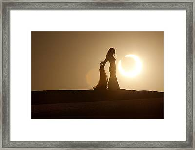 A Stellar Kiss Framed Print by Dario Infini
