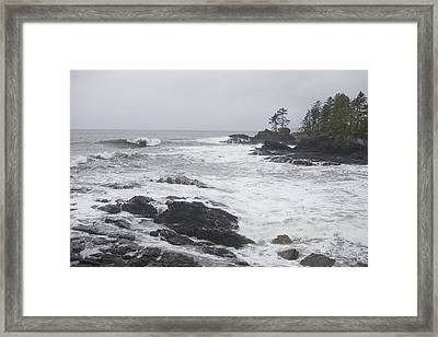 A Storm Lashes The Coastline Of British Framed Print by Taylor S. Kennedy