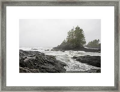 A Storm Lashes The Pacific Coastline Framed Print by Taylor S. Kennedy