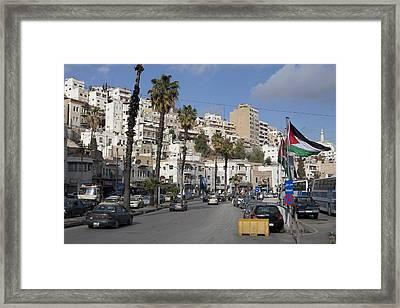 A Street Scene In Amman, Jordan Framed Print by Taylor S. Kennedy