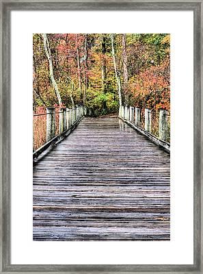 A Stroll Through Autumn Framed Print by JC Findley