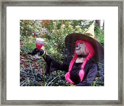 A Toast Framed Print by Renee Trenholm